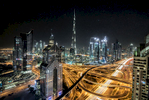 The incredible Burj Khalifa and skyline of Dubai