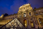 The Louvre in Paris after dark