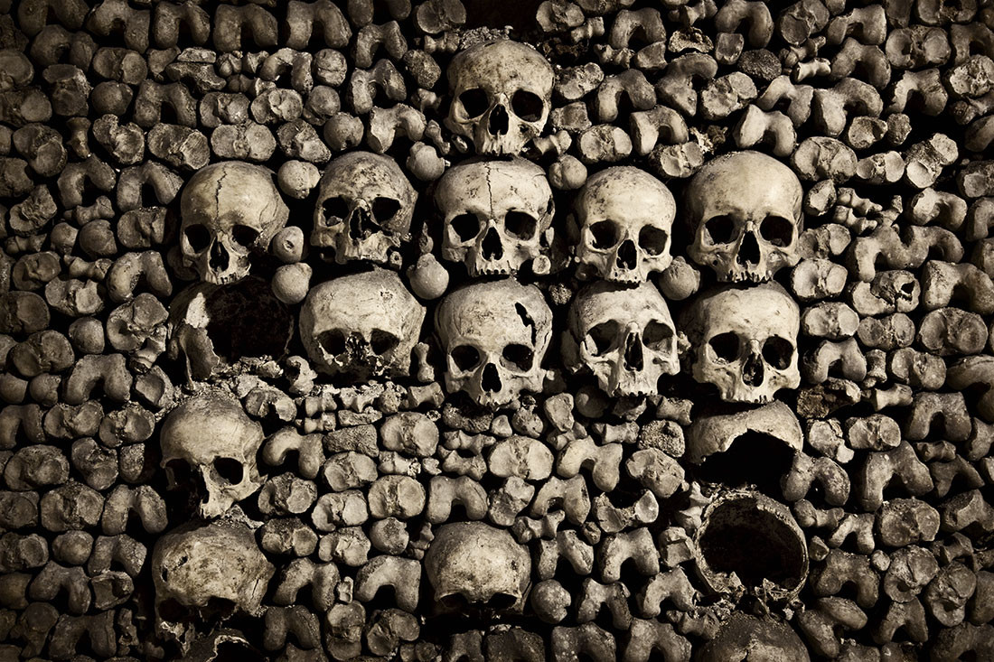 The skulls of the spooky Catacombs