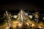 from atop the arc de triomphe in Paris