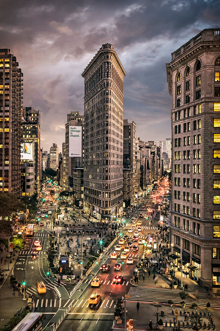 The one of a kind Flatiron building in NYC