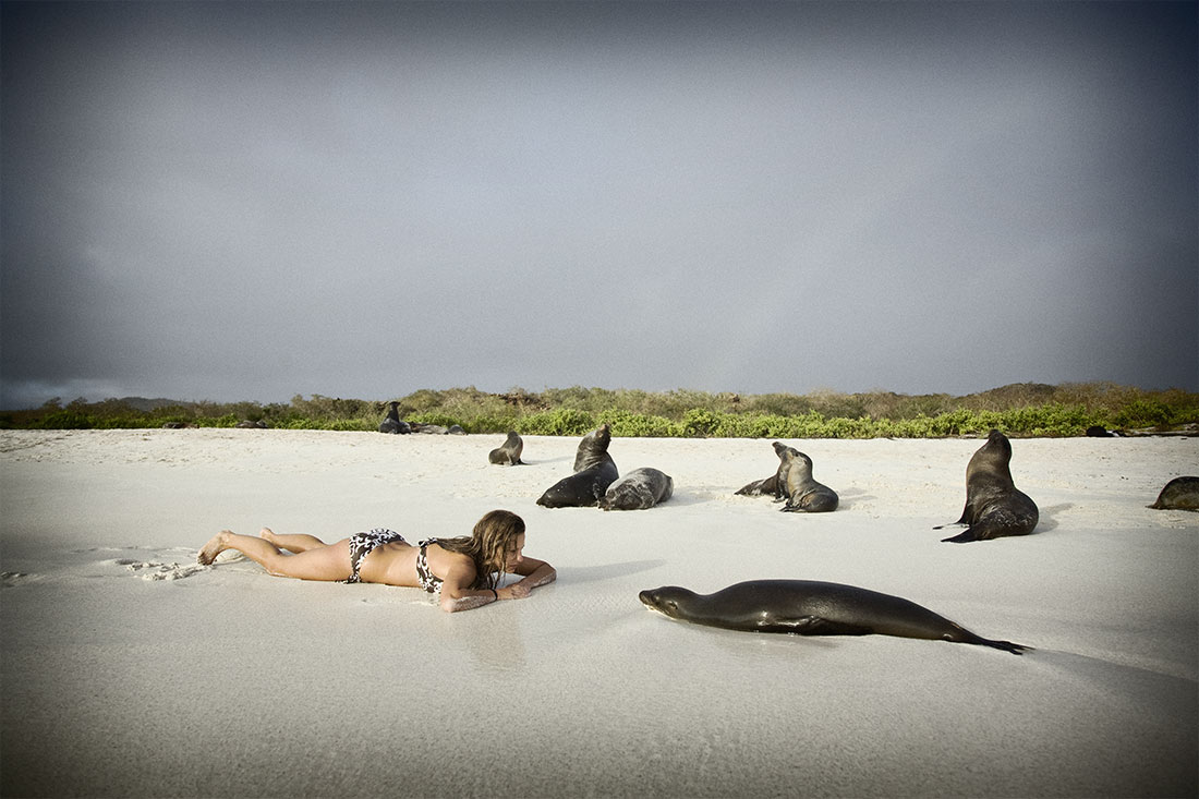 up close and personal with sea lions, Galapagos