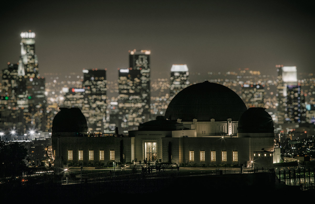 Griffith Park Observatory and LA after dark