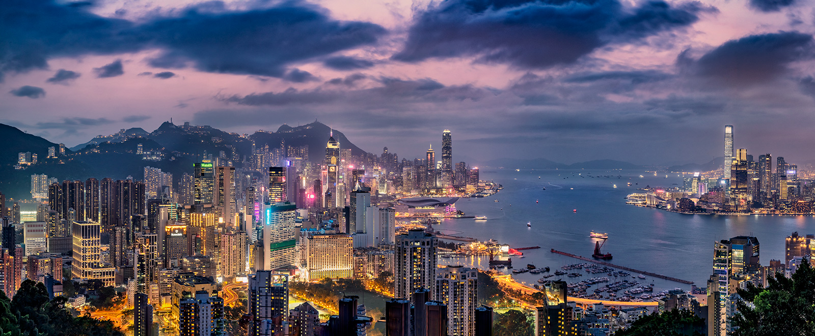My favorite view after dark in Hong Kong