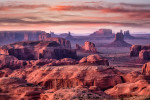 Sunset in Hunts Mesa, Monument Valley