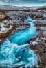 The beauty of Bruarfoss Waterfall from above