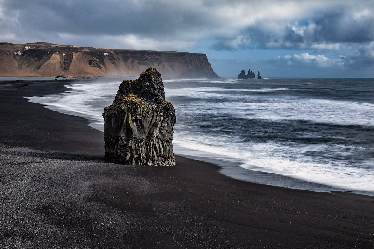 The black sand beach in Reynisfjara
