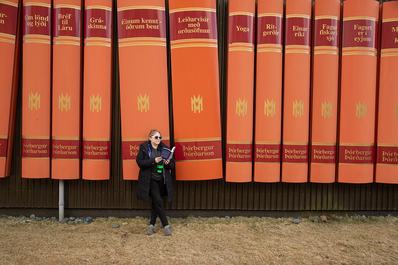 Elizabeth at her favorite library