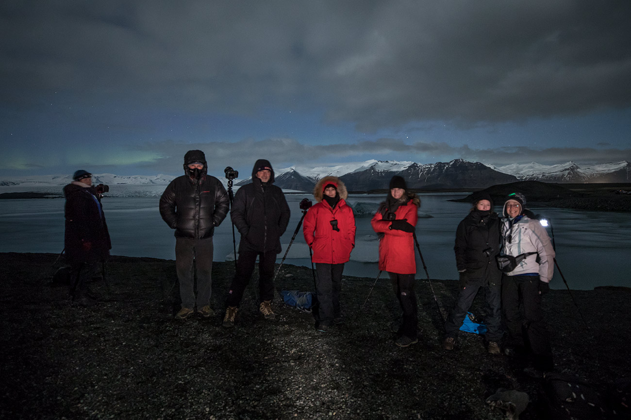 The group waiting for the Aurora