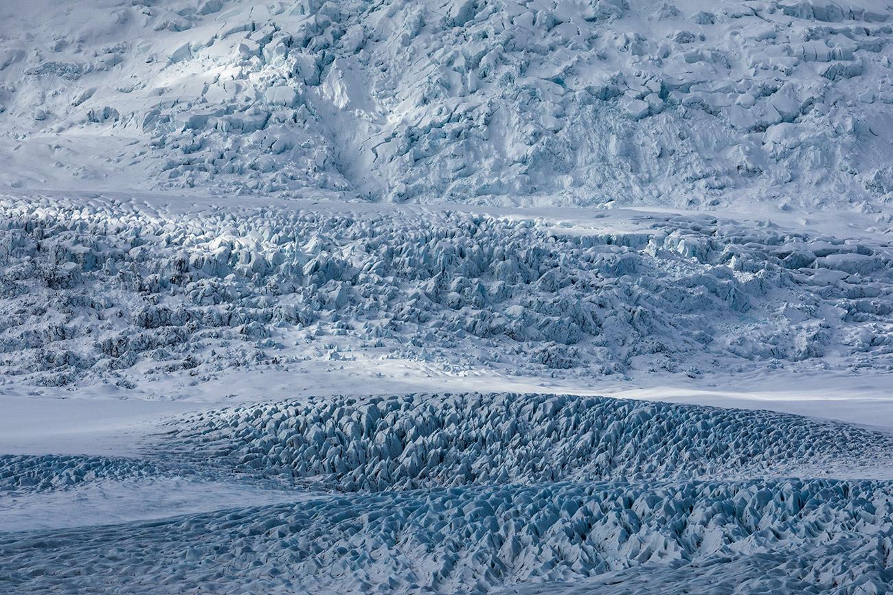 The ice at Jokulsarlon Lagoon