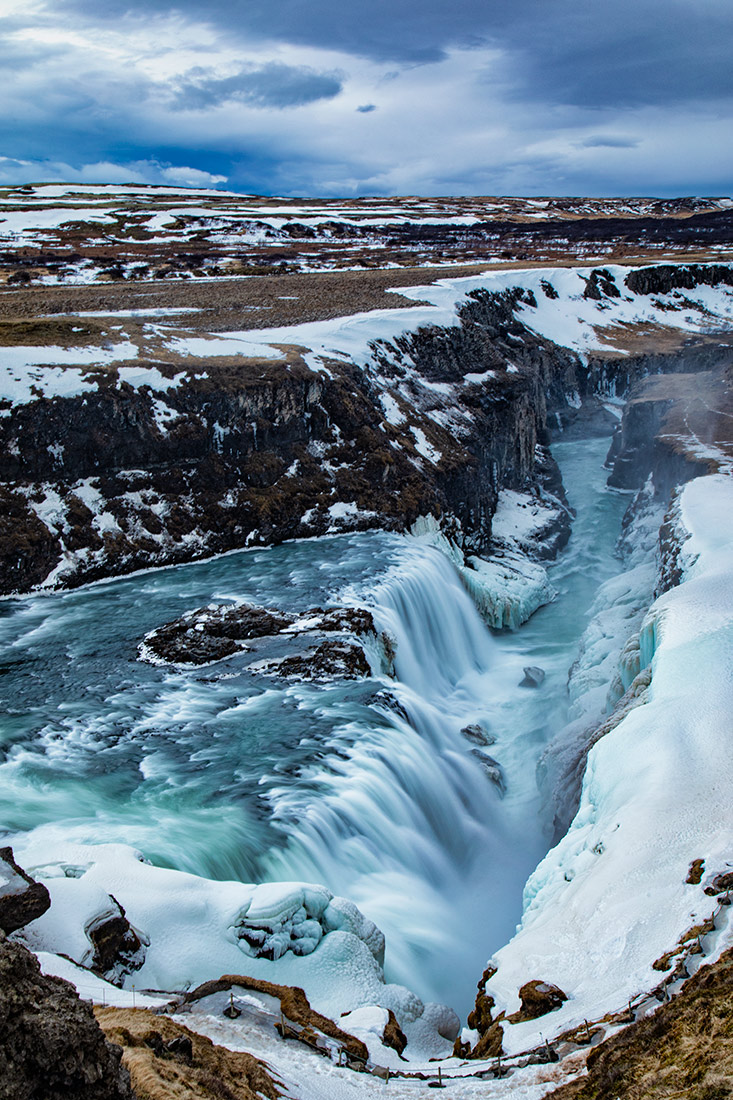 Incrfedible Gullfoss Waterfall