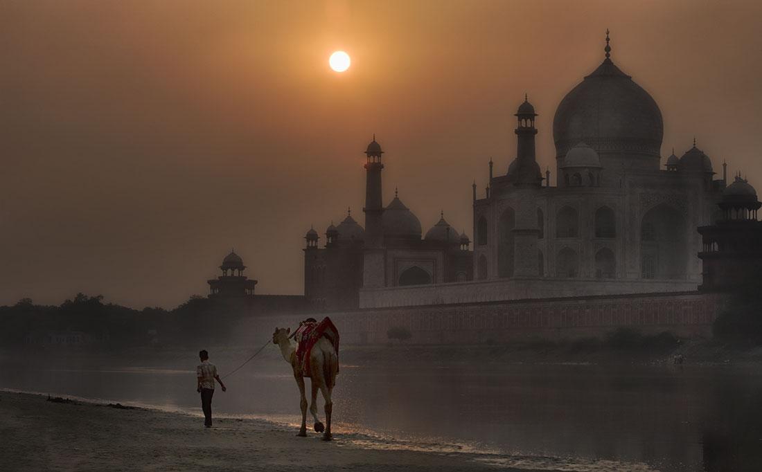 Backside of the Taj Mahal, Agra, India