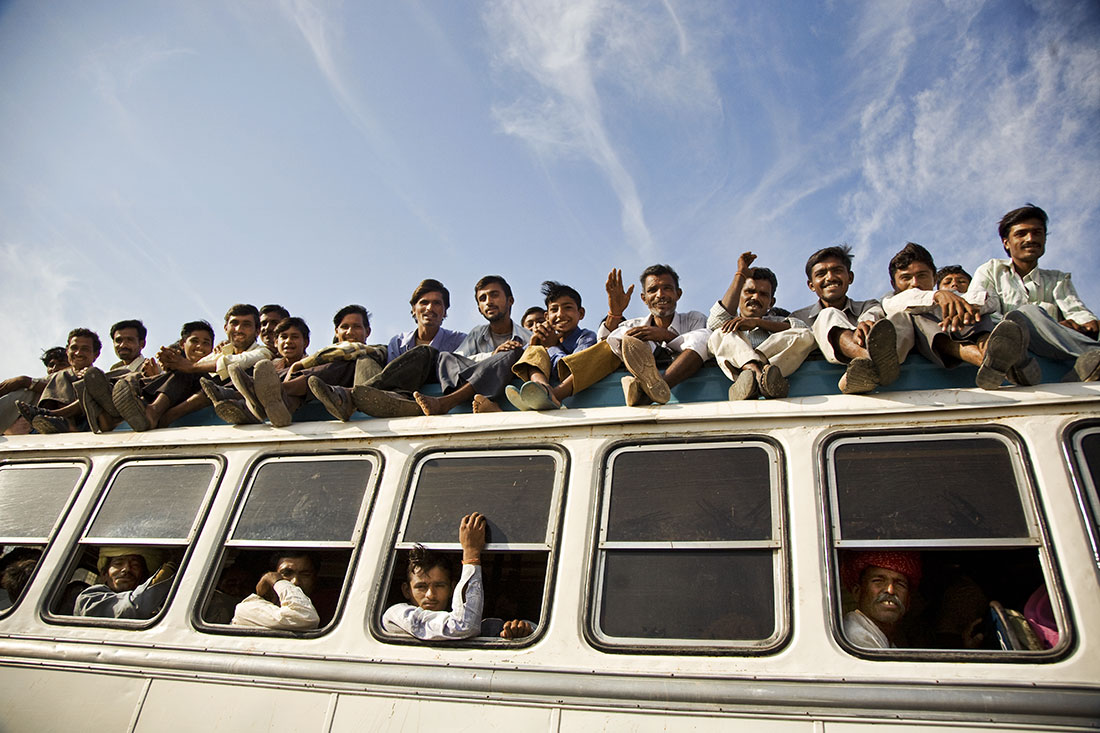 <b>Over crowded bus,  Rajistan , India</b>