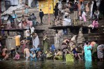 Praying and washing in the Ganges, Varinasi