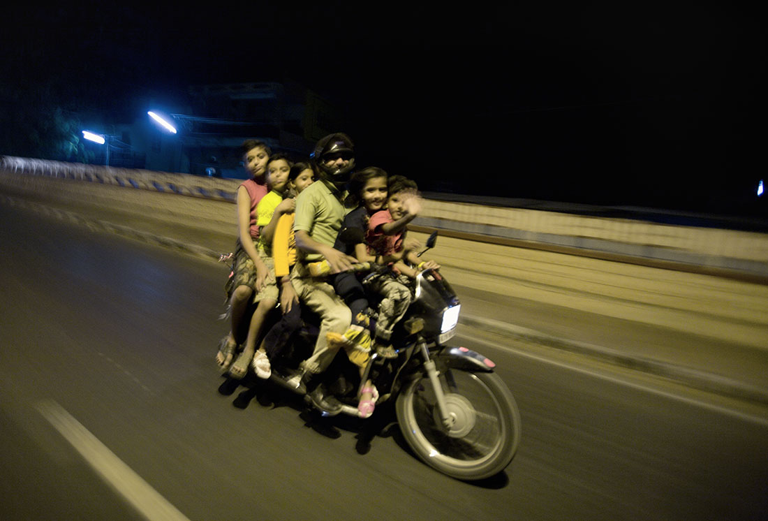 6 on a bike......the most I have ever seen!!