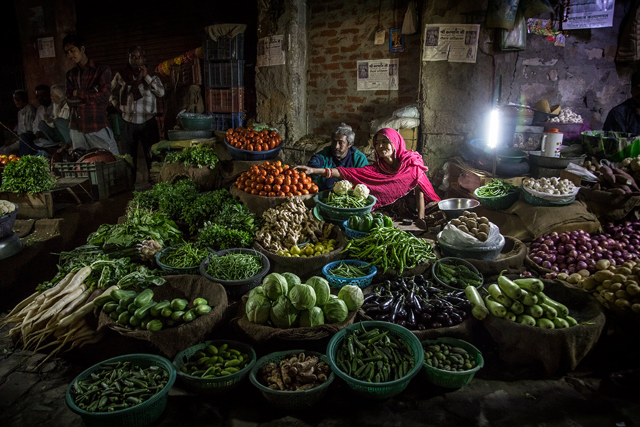 Vegetable market in Jaipur