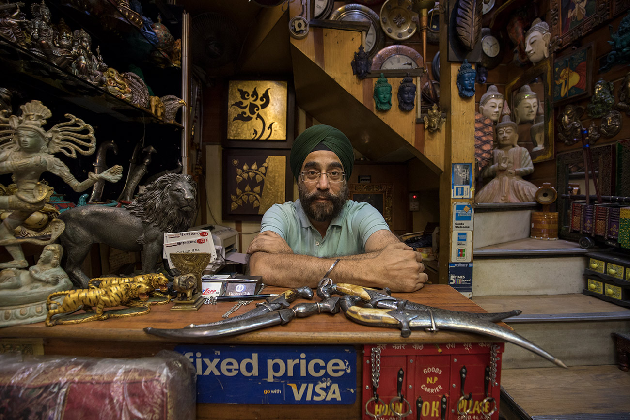 Shopkeeper in New Delhi
