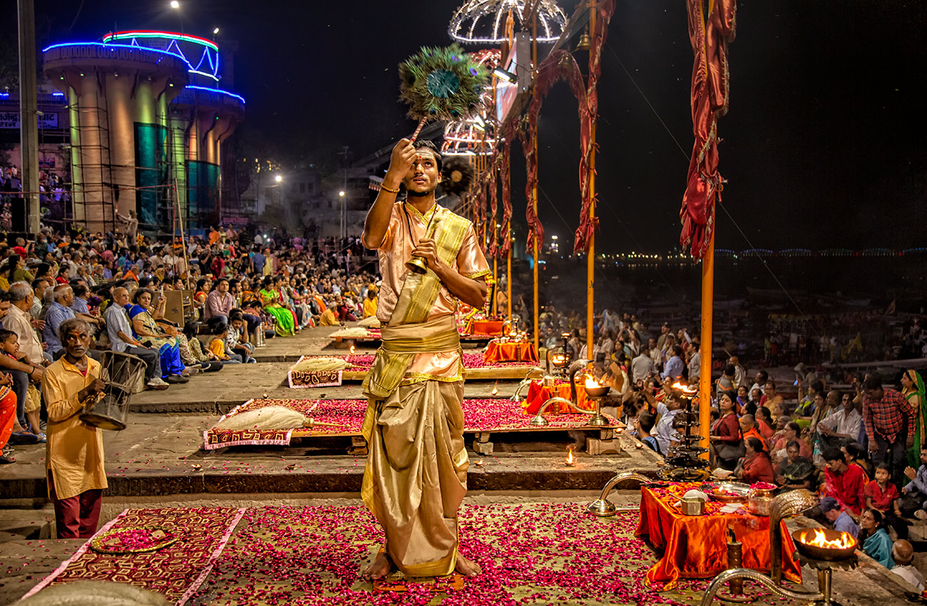 The Ganga Aarti Ceremony in Varinasi