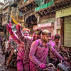 The colorful festival of Holi in Vrindban