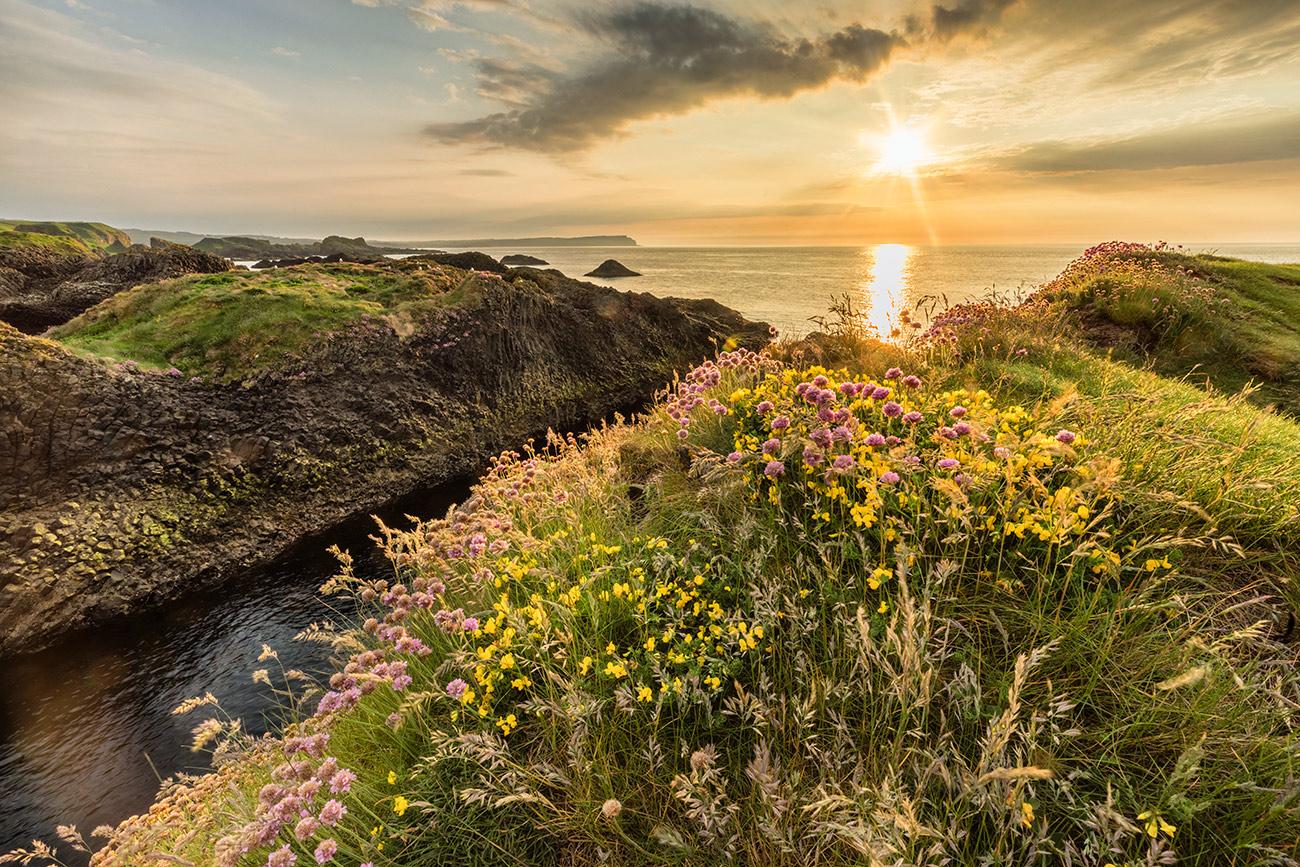 The north coast at sunset