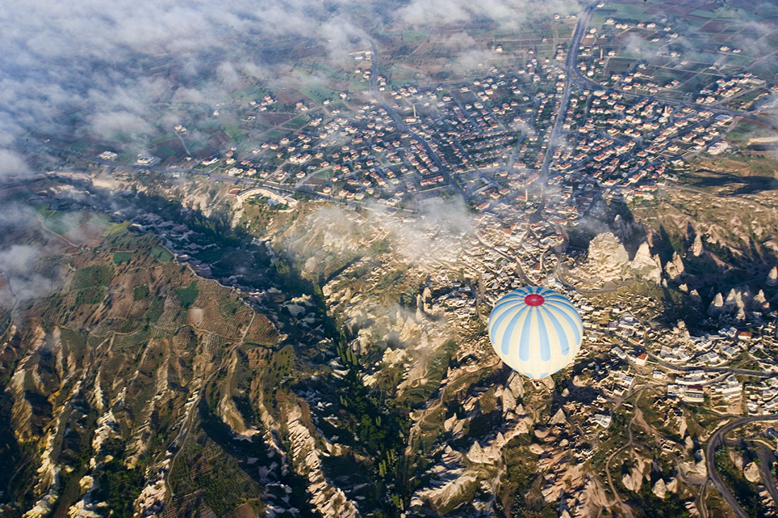 Balloons over Kapadocchia, Turkey