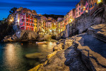 Riomaggiore in the Cinque Terre after dark