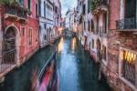 Venice canals after dark