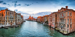 Venice canals by the Academia Bridge