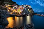 Manerola, after dark, Cinque Terre, Italy