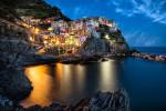 Manerola, after dark, Cinque Terre, Italy