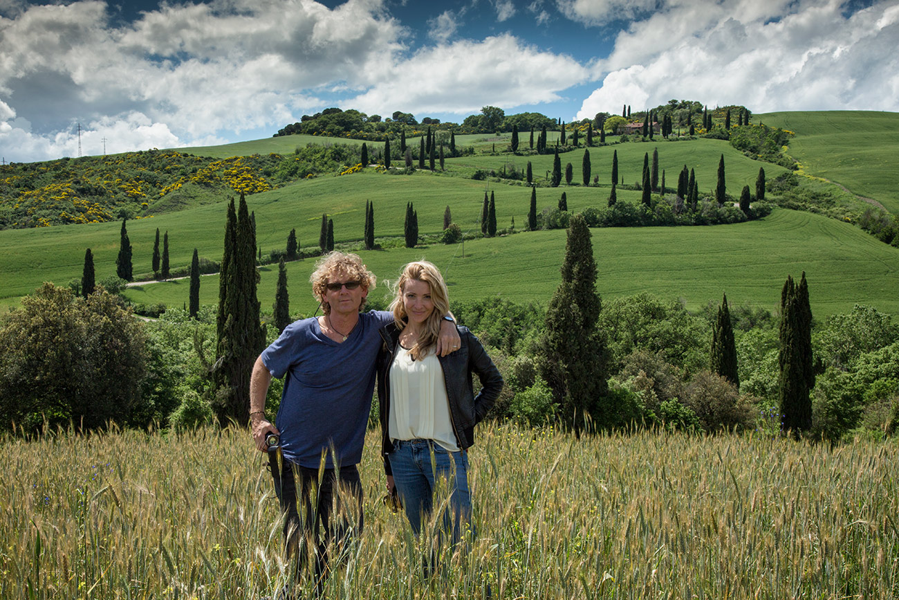 My baby and I in Loce, Tuscany