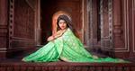 Beautiful Indian woman at the Taj Mahal