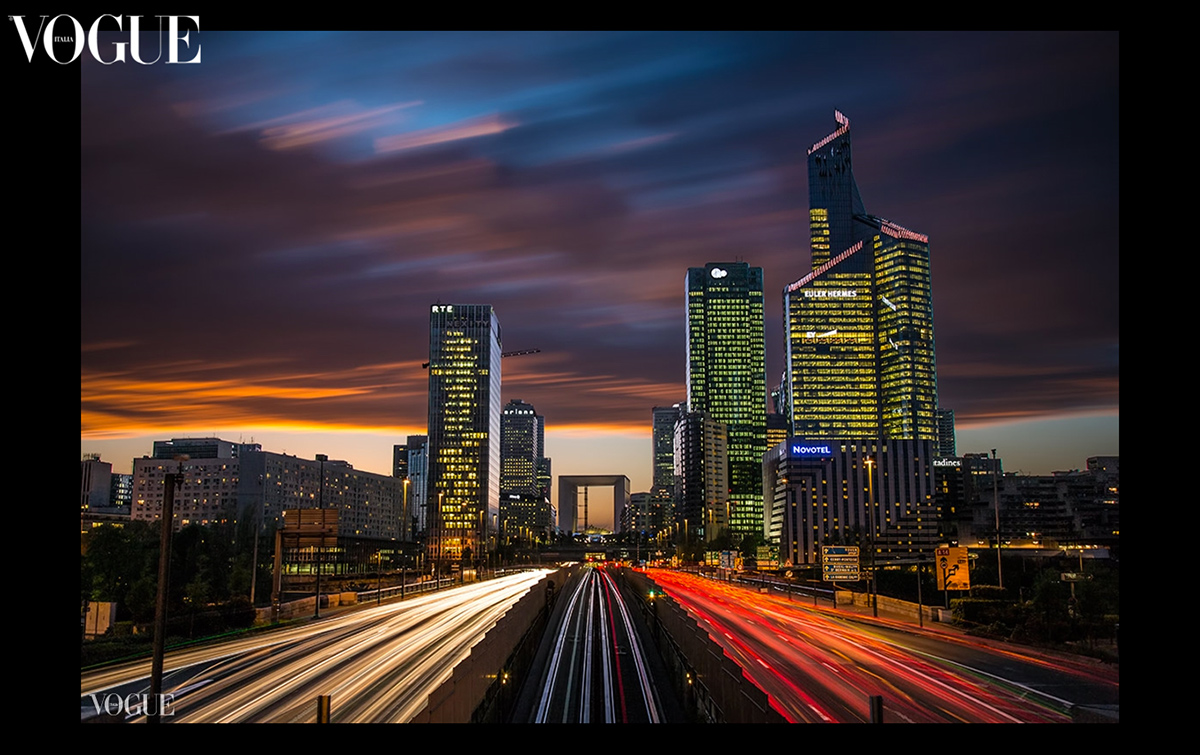 La Defense after dark  ~  Paris, France
