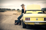 Leah with my Mustang