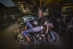 Cool Leah on a Harley, Photofest workshop 2014