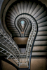 Amazing lightbulb spiral staircase in Prague