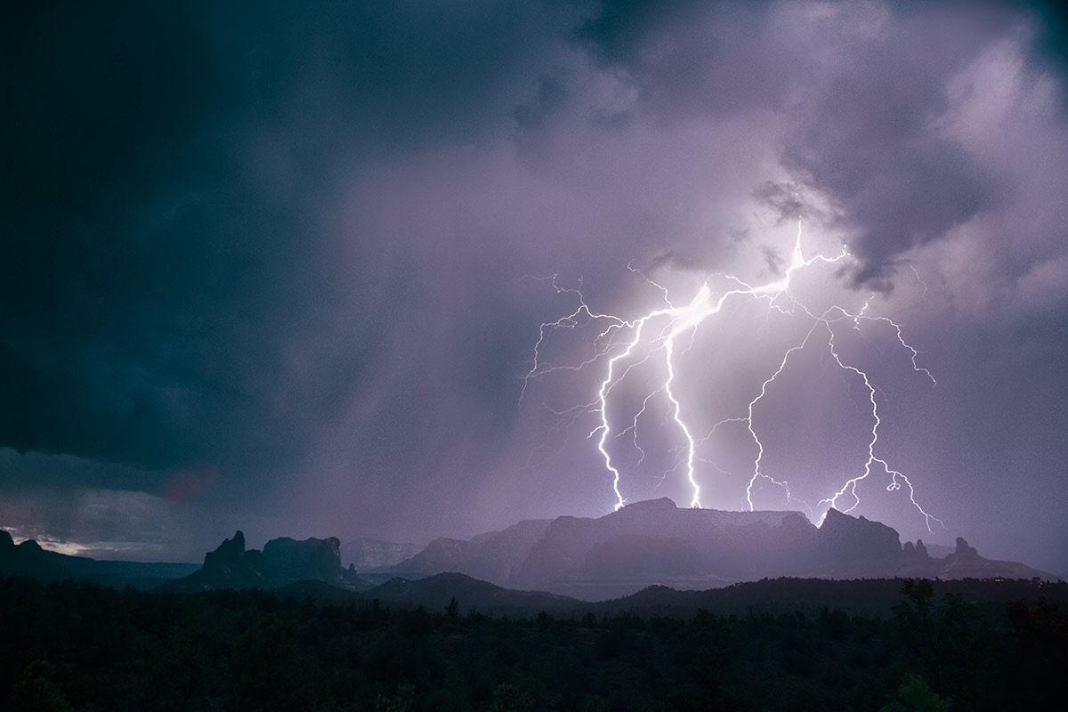 Lightning during the monsoons