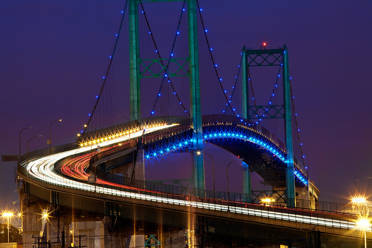 The Vincent Thomas Bridge in San Pedro