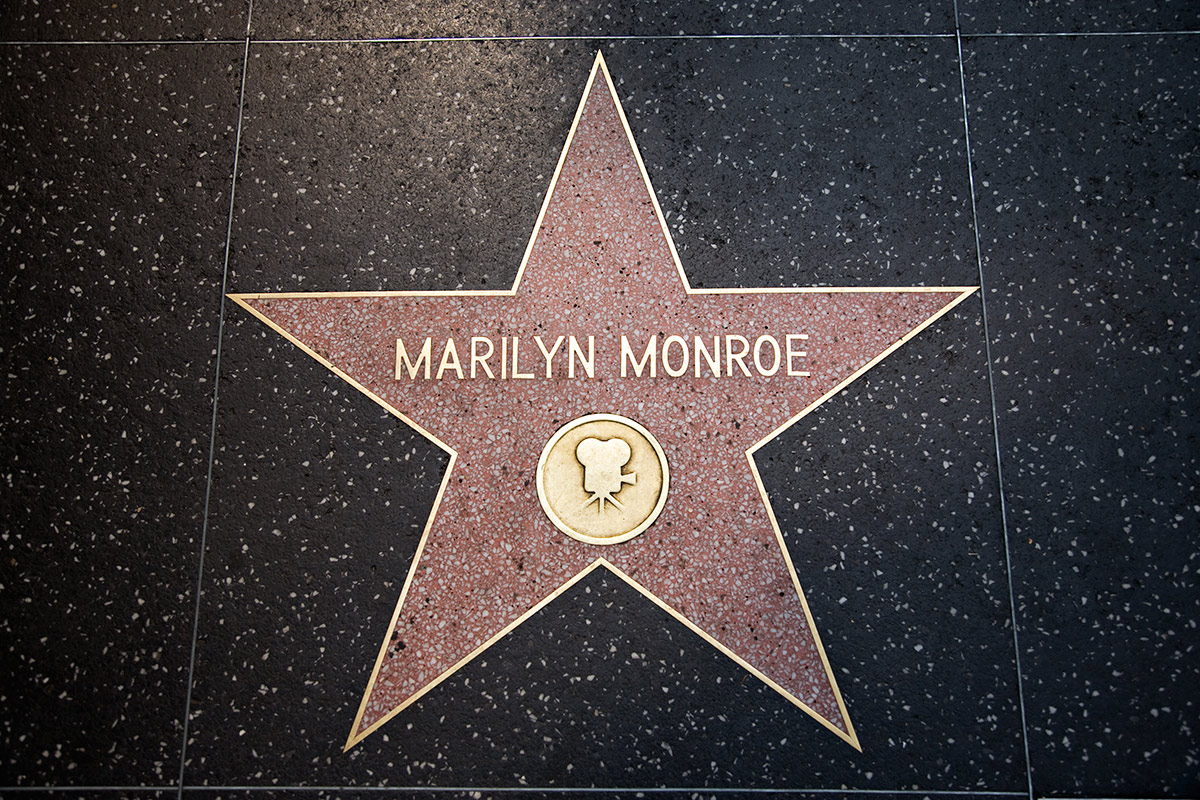Marilyn's star on the Hollywood walk of fame