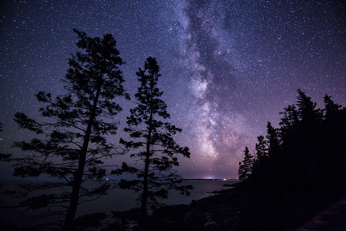 The Milky Way on the coast of Acadia National Park