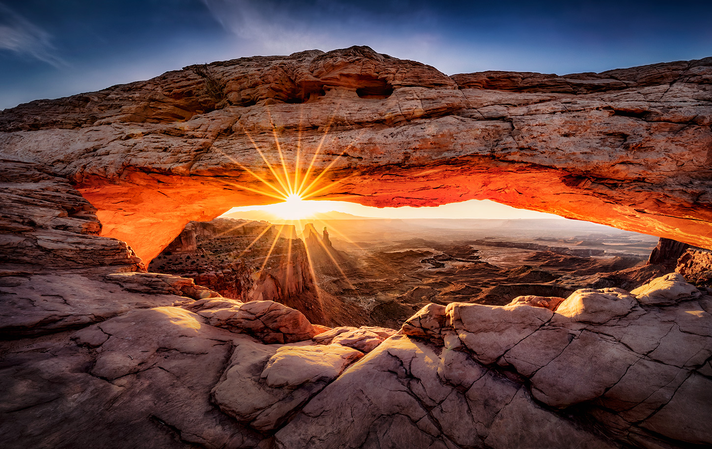Mesa Arch sunrise in Canyonlands National Park