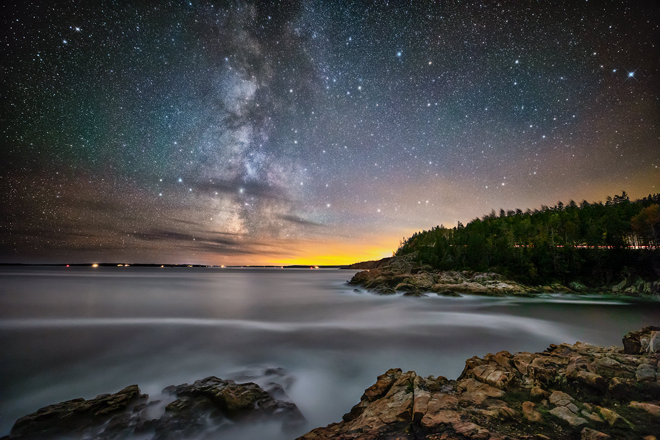The Milky way over Acadia National Park