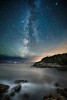 The Milky Way over Acadia National Park in Maine