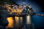 Manerola in the Cinque Terre after dark