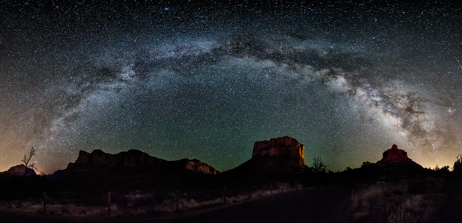 MilkyWay panorama over Sedona