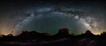 Milky Way and meteor over Sedona