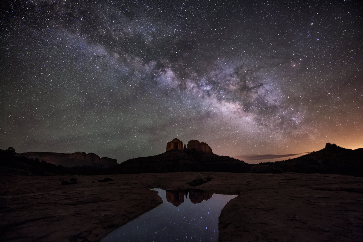 The Milky Way over Sedona