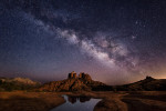 Milky Way & moonlight, Cathedral Rock in Sedona