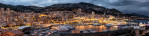 Panorama of Monte Carlo after sunset