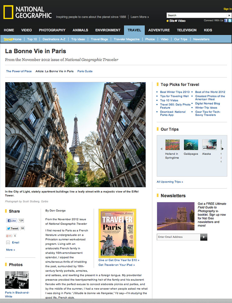Paris for National Geographic